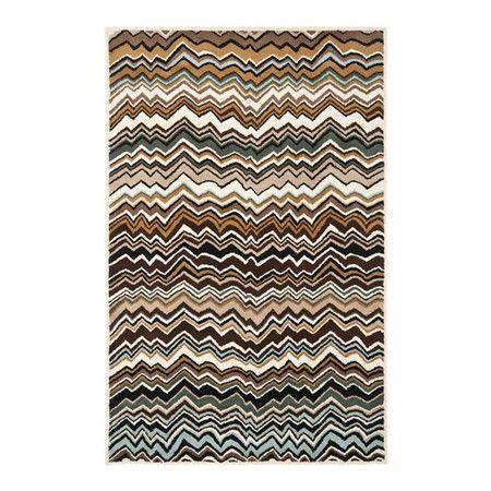 Bowery Rug In Brown At Joss Main Modern Wool Rugs Chevron Area Rugs Wool Area Rugs