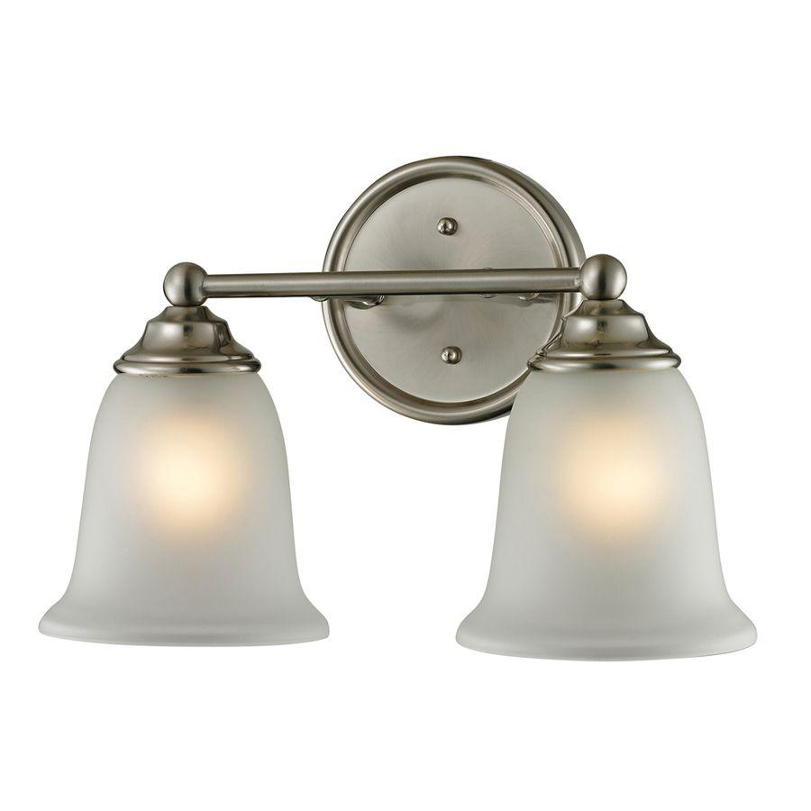 Westmore lighting landisville light in brushed nickel bell led