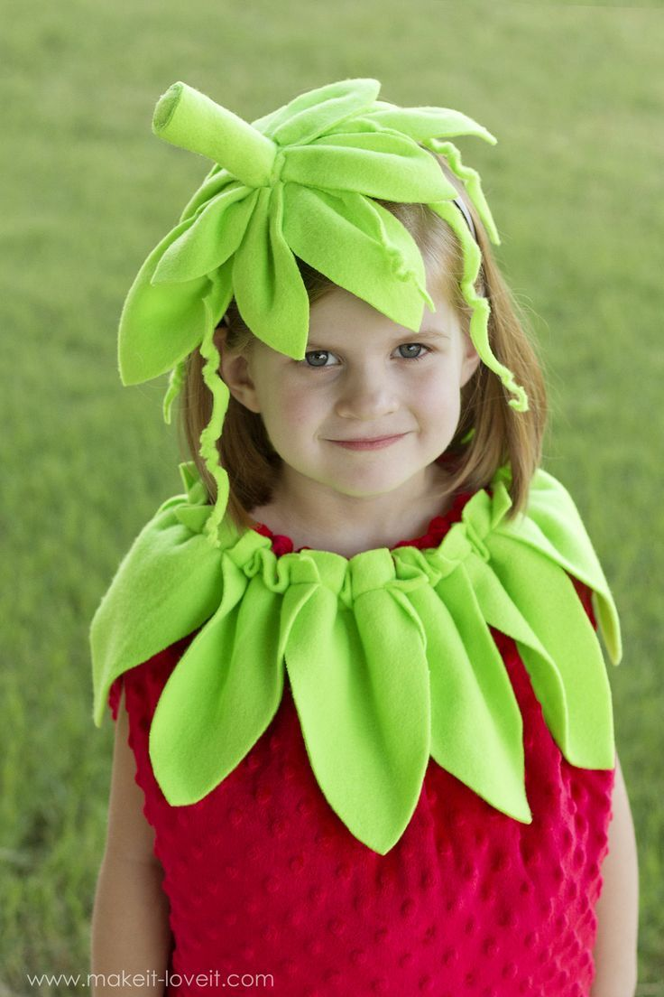 DIY Strawberry Costume...a tutorial, plus one to GIVE AWAY! | via ...