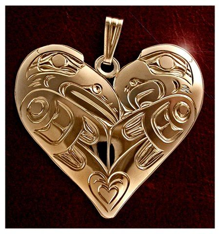 """Lovebirds Sterling Pendant""  