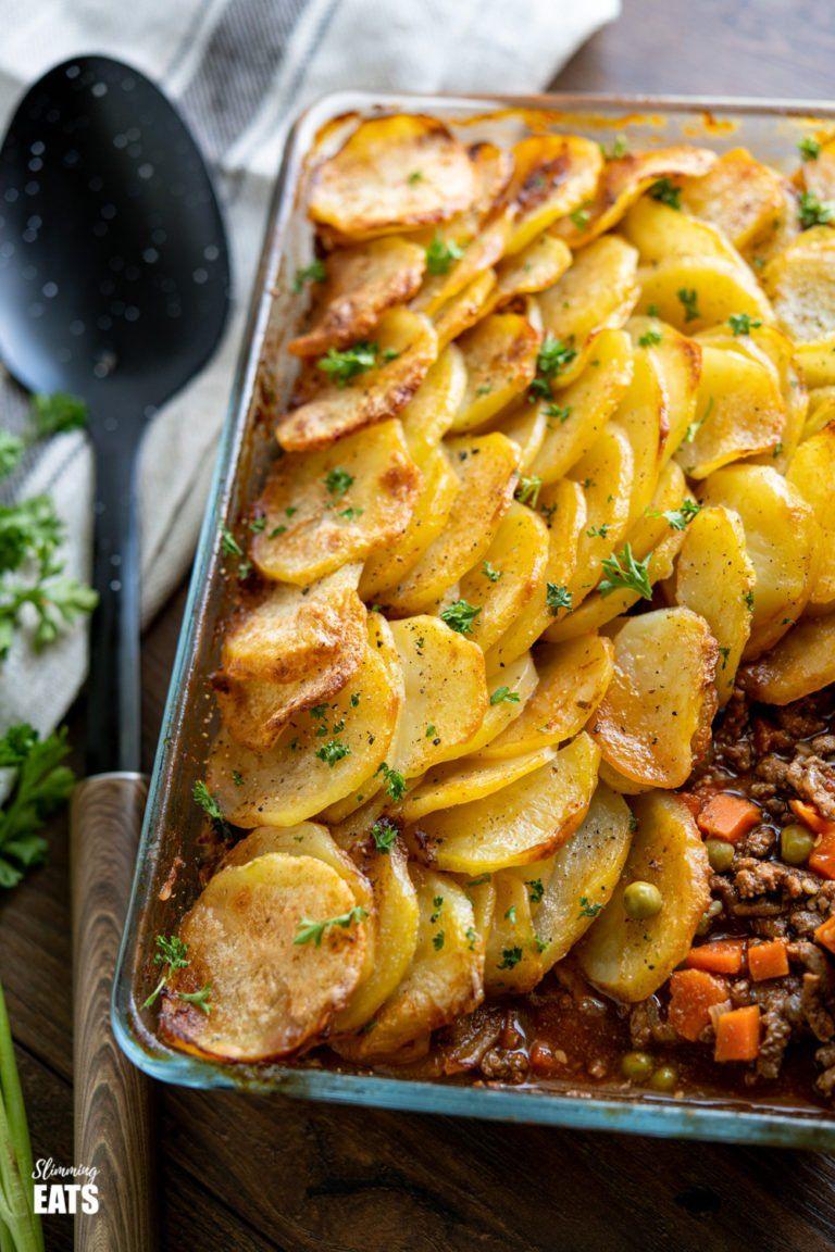 Yummy Crispy Potato Topped Meat Pie Minced Beef Hotpot   a ...