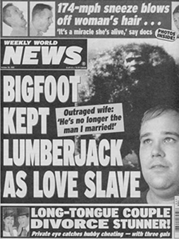 The Most Ridiculous Tabloid Headlines Of All Time (PHOTOS) | Funny headlines,  Funny news, Funny news headlines