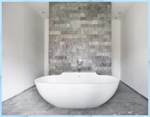 Badezimmer Mit Granitplatten Azul Macaubas Waschtisch Holz Azul Badezimmer Granitplatten Kleiner Wascht In 2020 Steinboden Naturliche Bodenbelage Waschtisch Holz