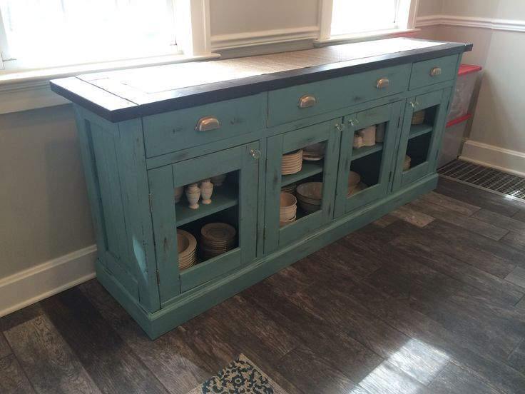 Planked Wood Sideboard