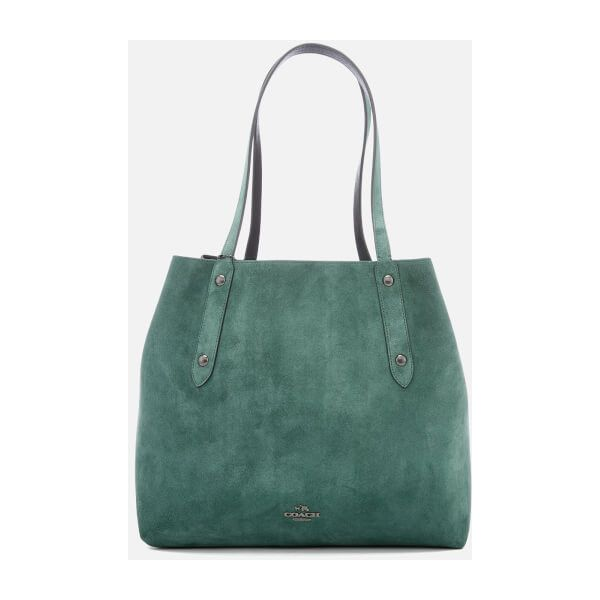 Tote - Rexy Tote 42 Army Green/Black Copper - brown, green - Tote for ladies Coach