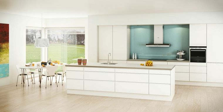 cucina-ikea-paraschizzi-azzurro-stile-minimal-mobili-colore ...