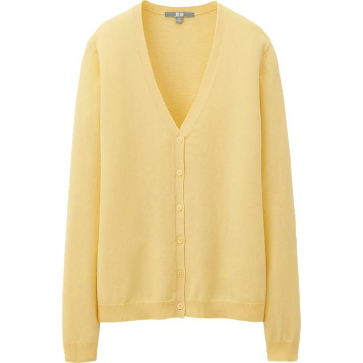 WOMEN COTTON CASHMERE CARDIGAN | UNIQLO | Uniqlo Cashmere ...