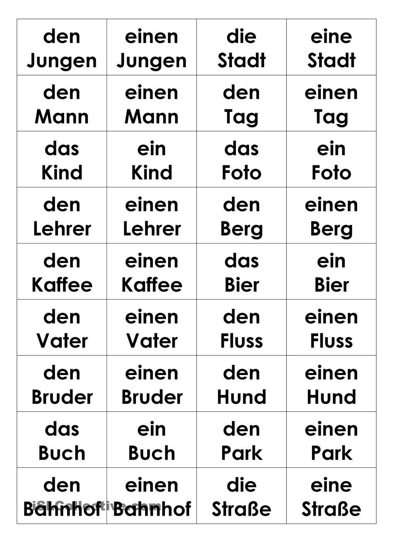 bestimmter unbestimmter artikel im akkusativ memospiel deutsche grammatik. Black Bedroom Furniture Sets. Home Design Ideas