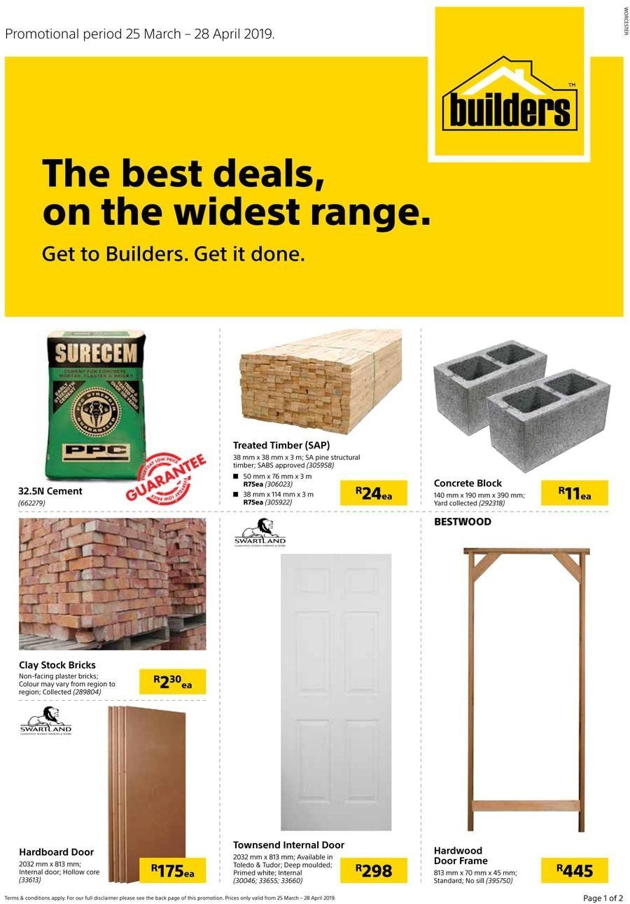 Builders Warehouse Catalogue And Weekly Deals Until 28 04 35465 Allcatalogues Co Za Builders Warehouse Brick Face Warehouse