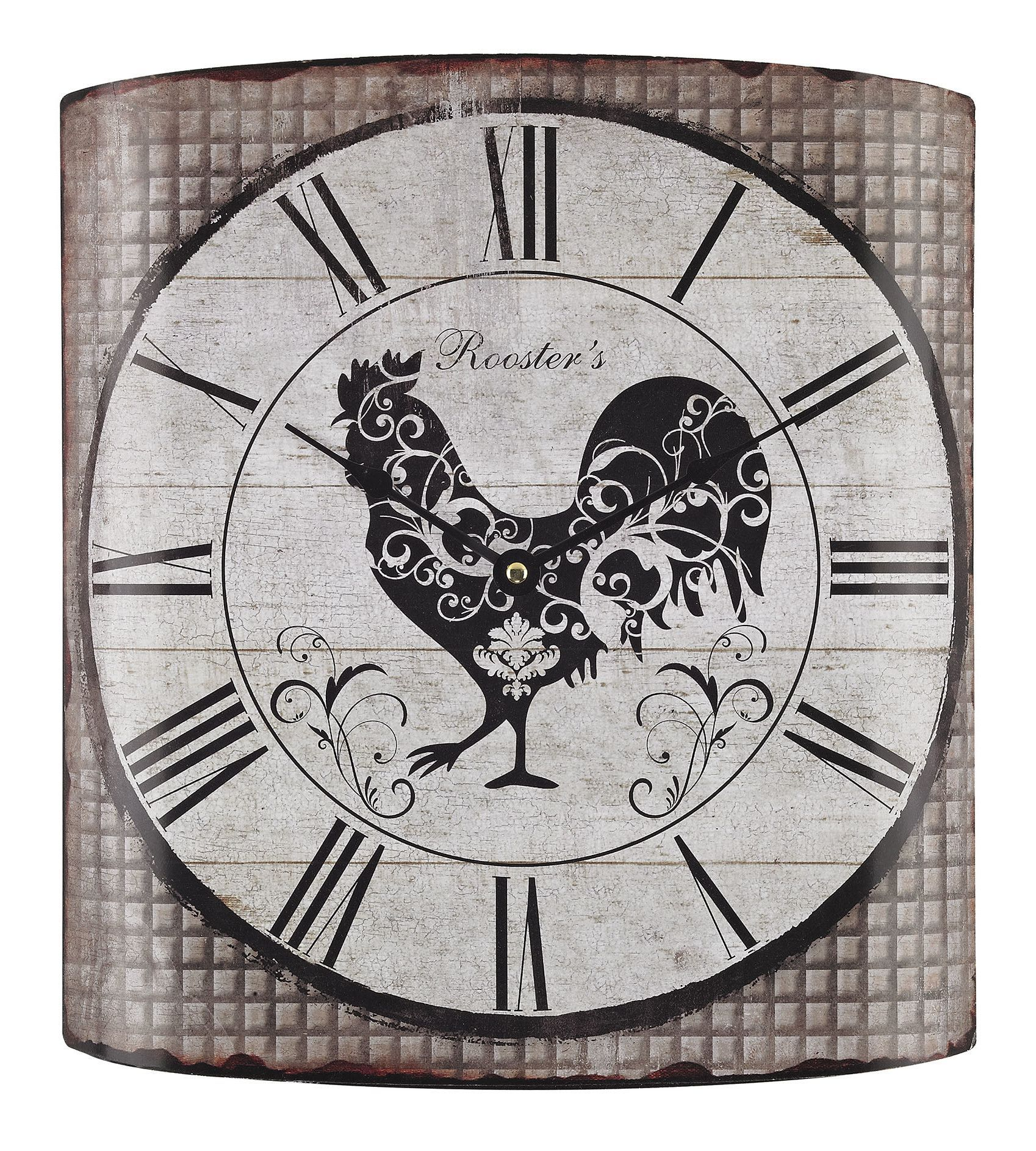 Stylized Rooster Wall Clock | rooster/kitchen decor | Pinterest ...