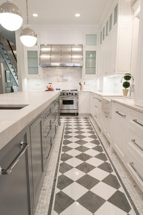 Best Checkered Floors In A Contemporary Kitchen Add Charm 400 x 300
