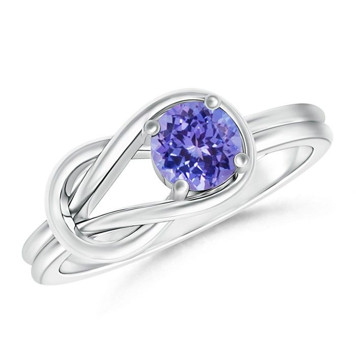 Angara Natural Tanzanite Solitaire Ring in White Gold oZRUP