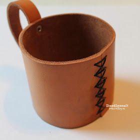 Doodlecraft: Leather Mason Jar Mug Coozie!