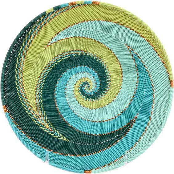 African Basket - Zulu Wire - Shallow Bowl #53307 | Mochilas Wayuu ...