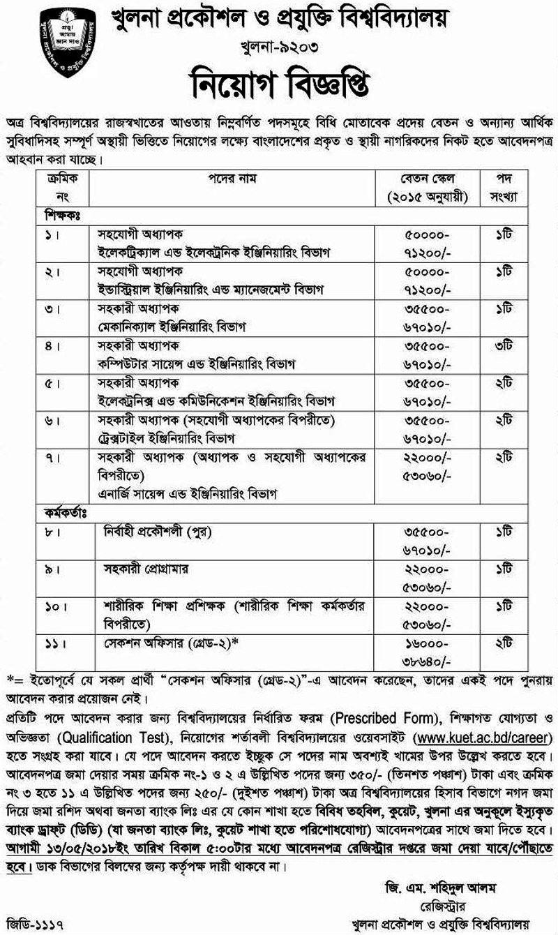 BSFIC Job circular 2020 Bangladesh Sugar & Food Industries