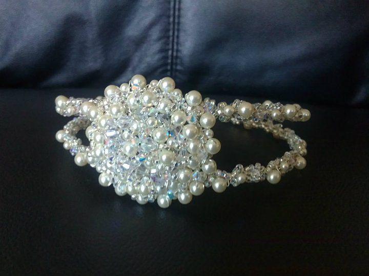 This is a close up of Lowri's #tiara #weddings #bridal #bride #crystals