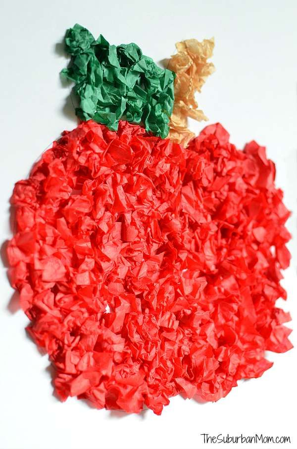 Tissue Paper Apple Craft Perfect For Preschoolers Kids