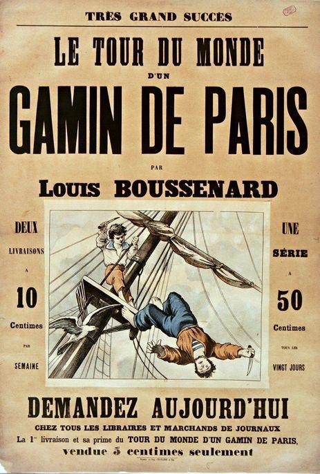 Tous Les Gamins Du Monde : gamins, monde, Romanciers, Populaires, Louis, Boussenard, (1847-1910), Gallica, Affiche, Vintage,, Populaire,, Paris
