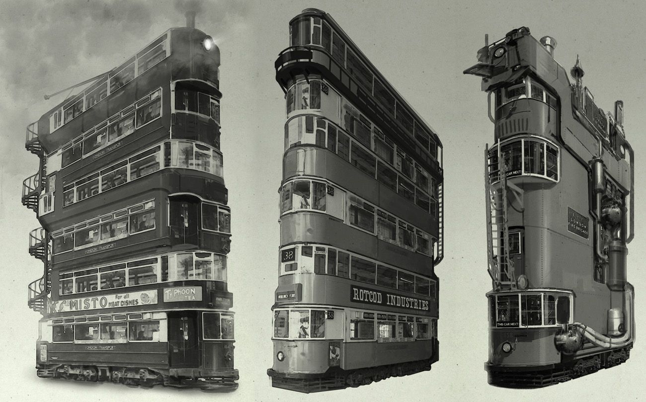 Quadruple Decker - nick carver   Steampunk   Train ...