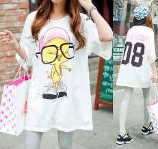 Resultado de imagen de moda en blusas flojas cool con letras de forever 21