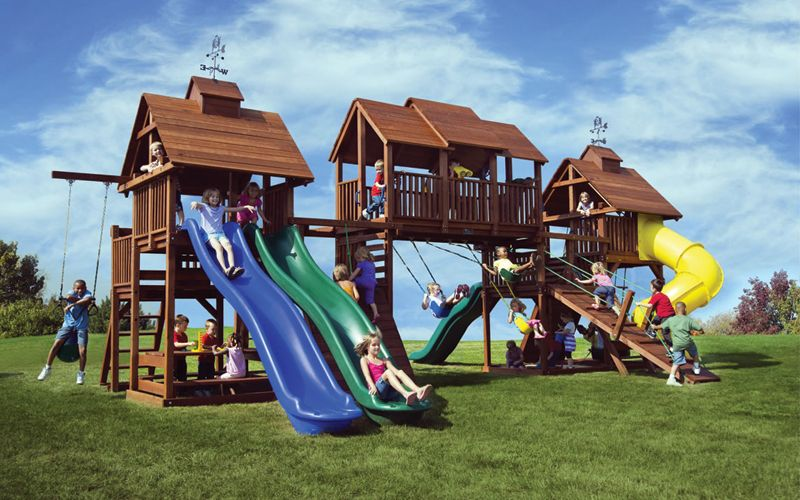 Gentil When We Designed This Play Set, We Wanted To Make Sure We Included Almost  Every · Play SetsKids SBig BackyardBackyard Swing ...