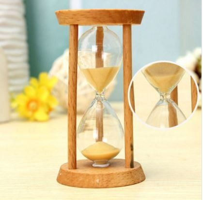 Clear Acrylic Sandglass 3 Mins Hourglass Sand Egg Timer Clock Home Decor Gifts