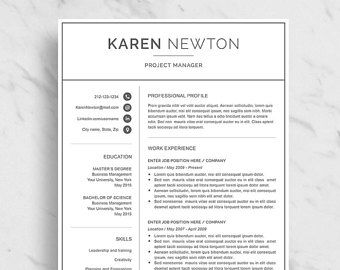 modern resume template for word minimalist resume design 2 page resume download simple - Modern Resume