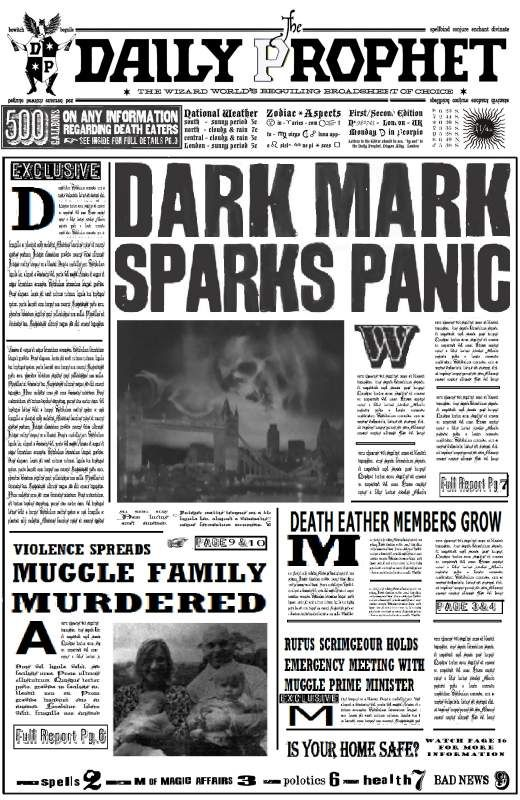 harry potter free paper props