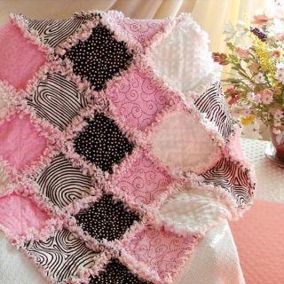 Rag Quilt pink/zebra