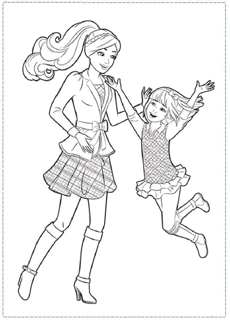 Barbie Sisters Coloring Pages Barbie Coloring Barbie Coloring