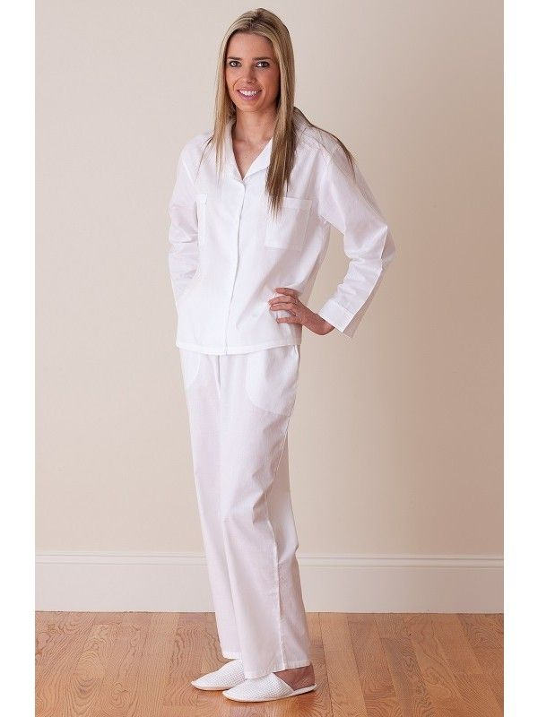 fb1dc98229 Crisp white cotton PJs for her. Shop now at jacarandaliving.com ...