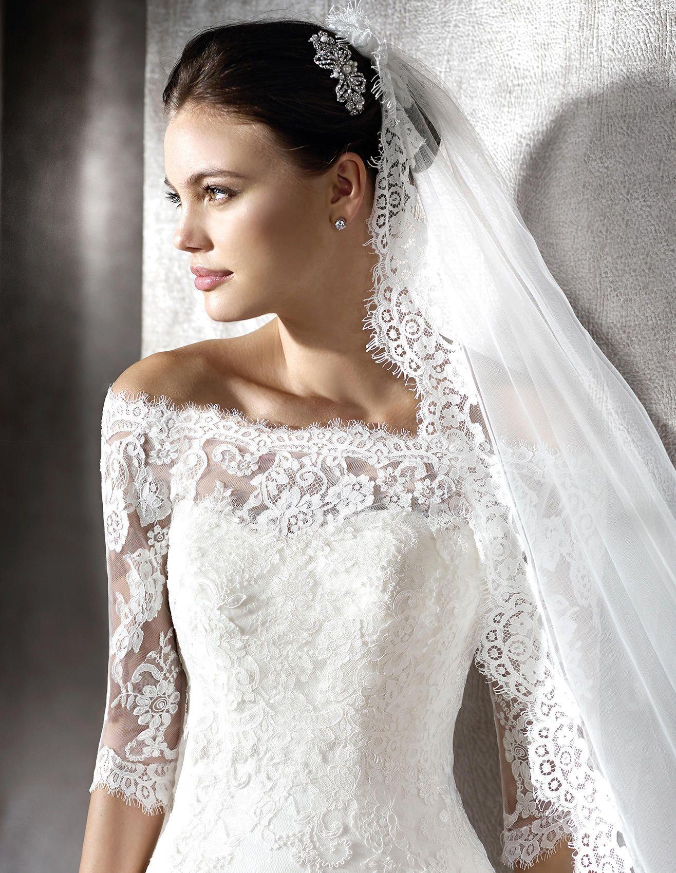 ZUZELA - Brautkleid aus Spitze mit herzförmigem Dekolleté | St ...