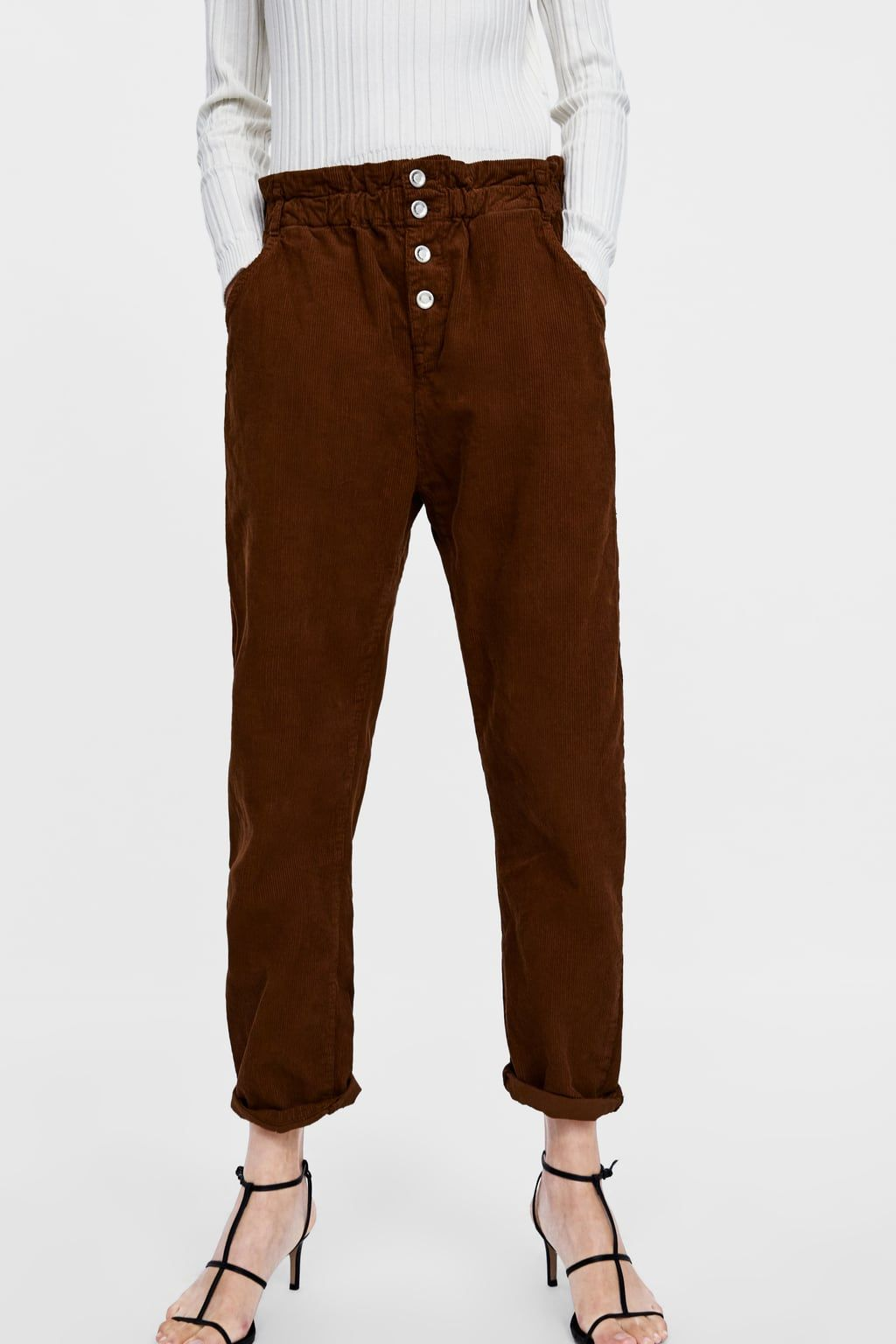 d26aa17be3f3 Image 2 of BAGGY CORDUROY PANTS from Zara | B O T T O M S U P ...