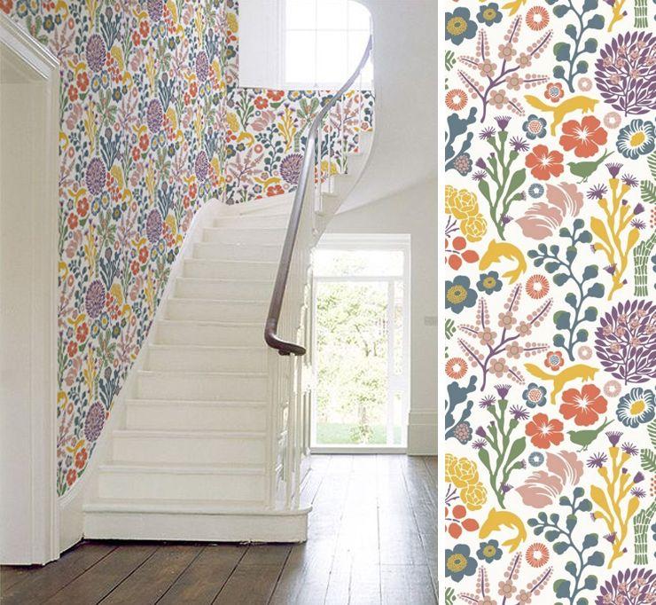 design d\'escalier scandinave | ... colorées pour une cage d escalier ...