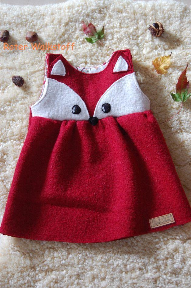 MuminMami Fuchskleidchen aus Wollwalk - Kleider - Kinderkleidung - Mit Liebe han...,  #aus #Fuchskleidchen #han #Kinderkleidung #Kleider #Liebe #mit #MuminMami #vintageBabykleidung #Wollwalk