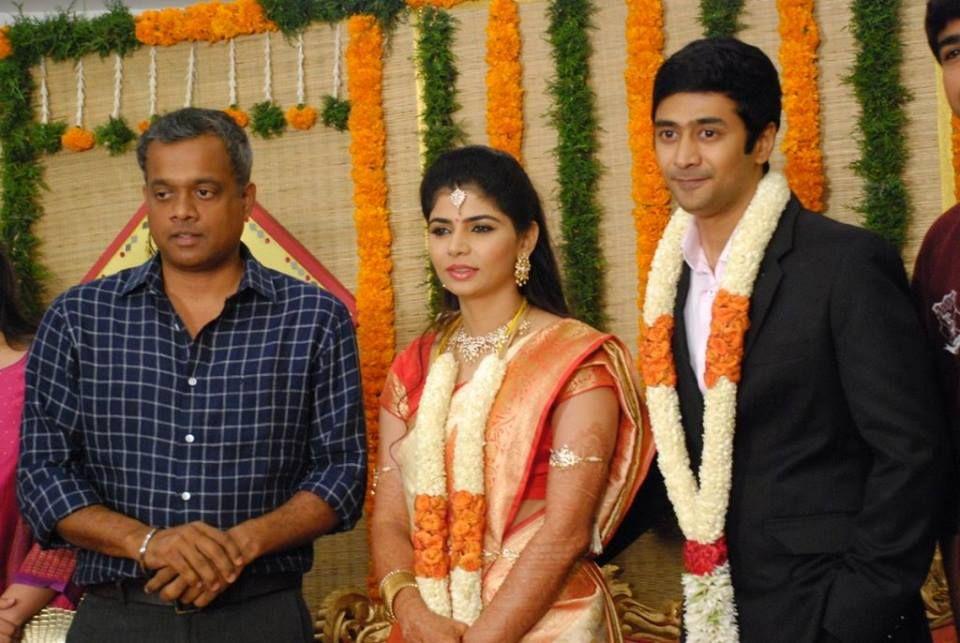 Gautham Vasudev Menon At Rahul Chinmayi Wedding Reception