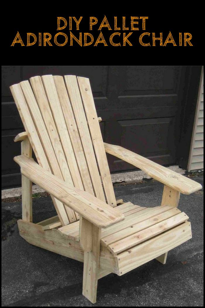 Recycled Pallets Turned Into An Adirondack Chair | Proyectos de ...