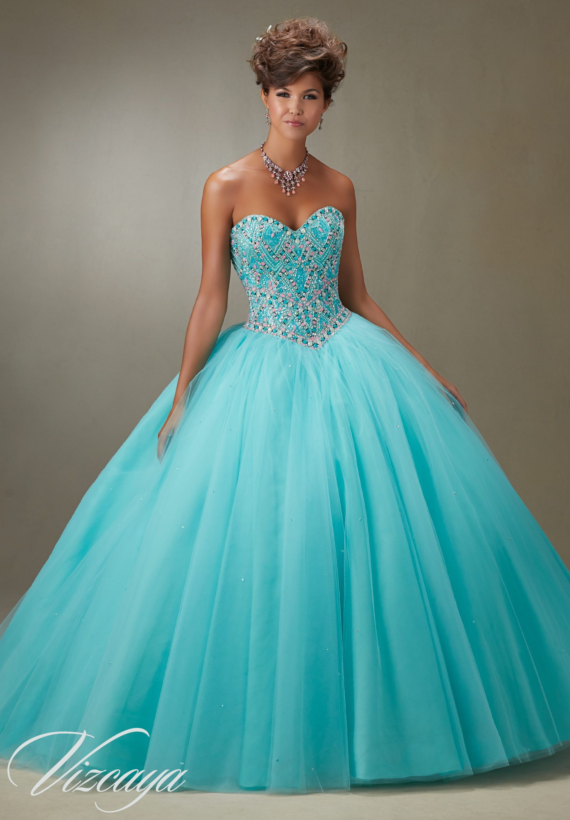 short tiffany blue quinceanera dresses - Google Search | My Dream ...