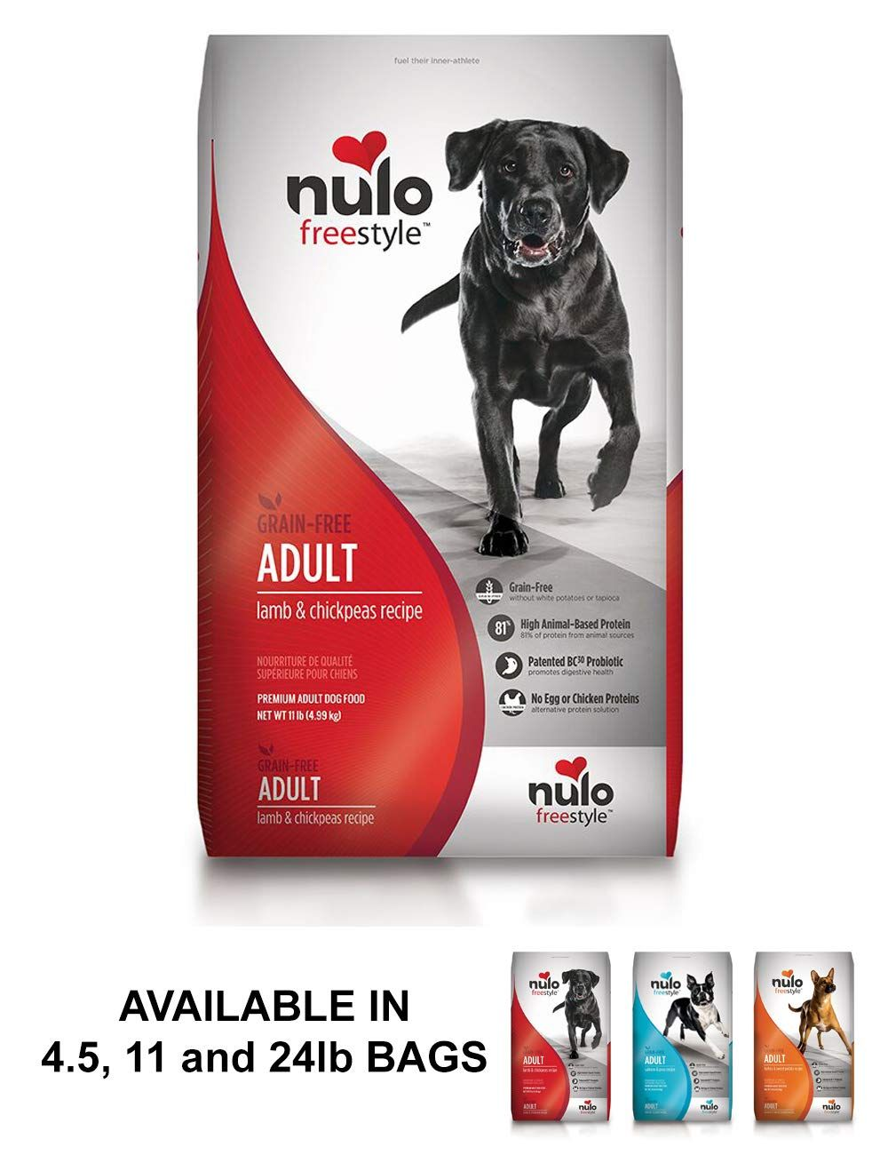 Nulo Adult Grain Free Dog Food All Natural Dry Pet Food For Large