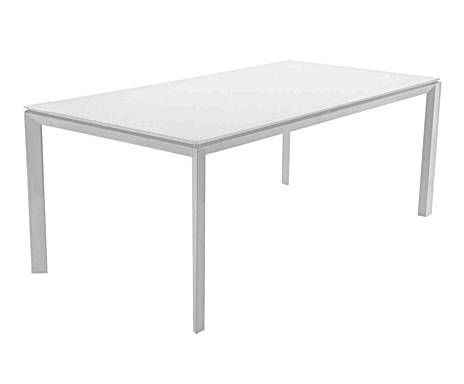 Tavolo In ~ Gruppo sintesi tavolo in acciaio e vetro orion bianco tables
