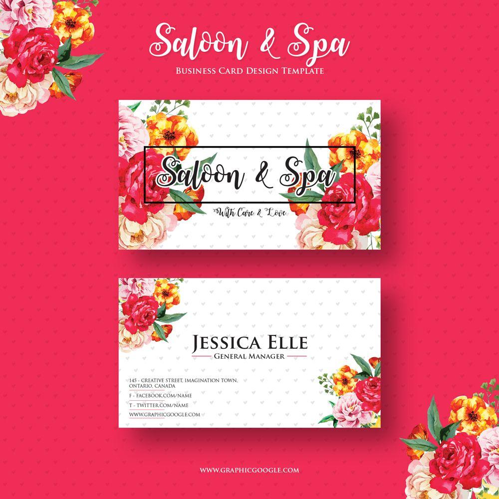 FreeSaloonSpaBusinessCardDesignTemplate GROOMINGMAINTAIN - Business card design template