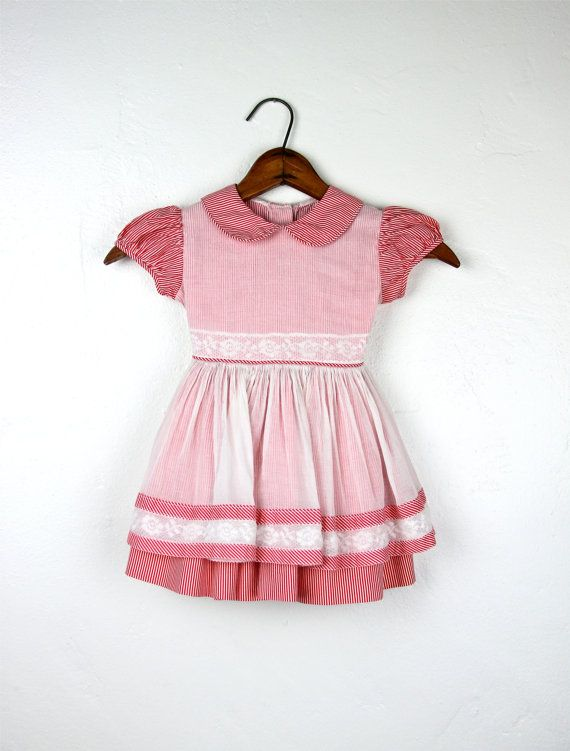 3c12b96c15e Toddler Girl Dress 1950s Vintage Dress Red Dress Girls Vintage Dress ...