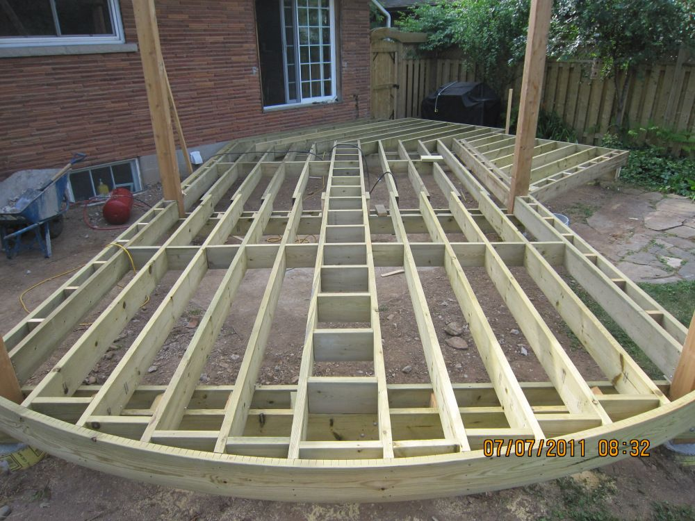 How To Build A Curved Deck Deck Framing Curved Deck Diy Deck
