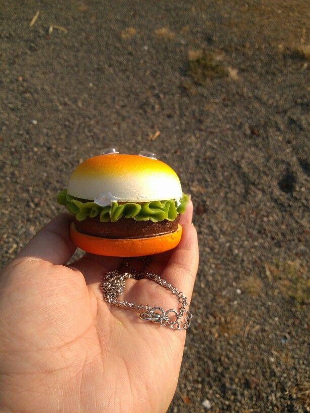 Squishy hamburger (side view)