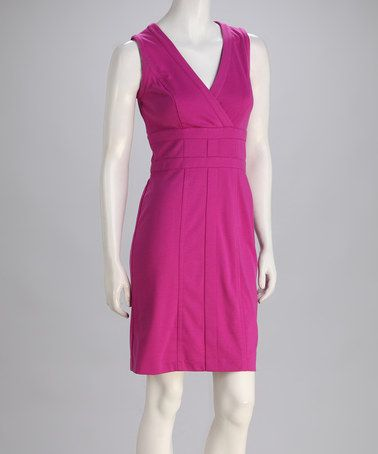 Take a look at this Pink Ponte V-Neck Dress by Marc New York by Andrew Marc on #zulily today!