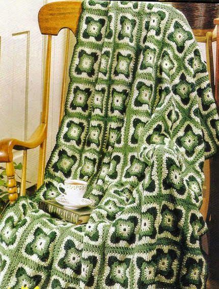 Crochet y Dos agujas: 3 modelos de cubrecamas artesanales al crochet ...
