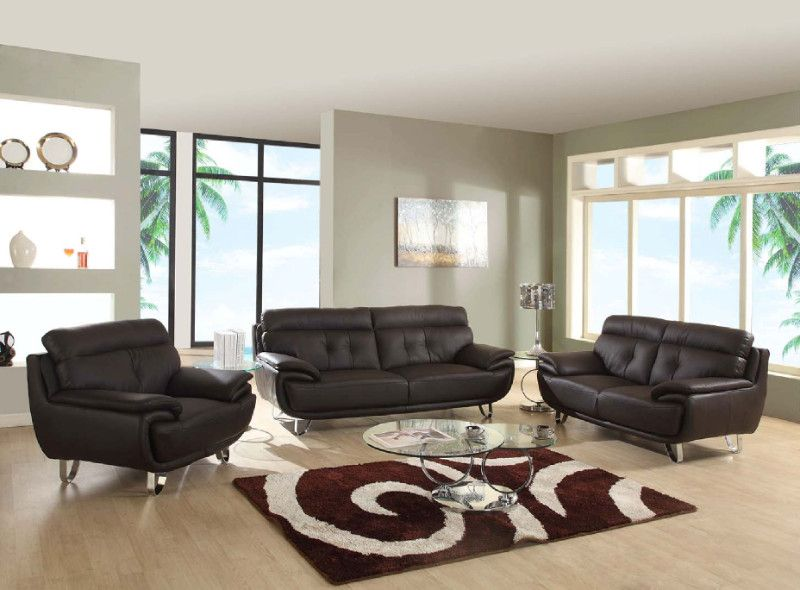 Global United A159BR-2PC 2 pc Shirley collection modern style brown