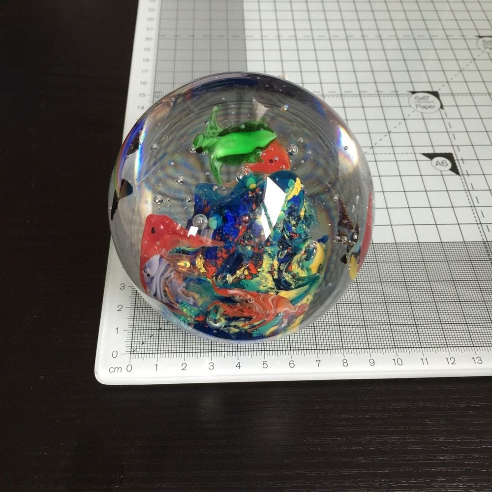 3 Stück Paperweight Briefbeschwerer  Glas Kugel