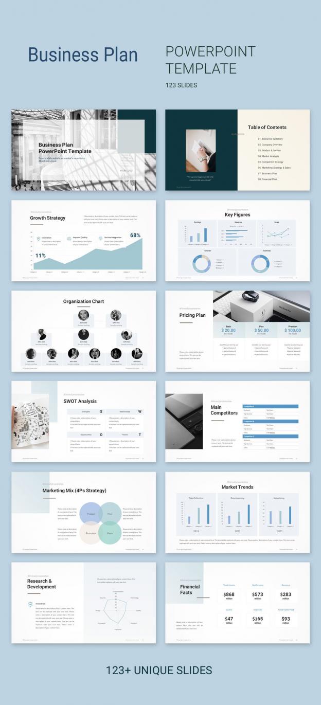 Business Plan Powerpoint Templates Have 123 Unique Powerpoint Presentation In 2020 Business Plan Presentation Presentation Slides Design Powerpoint Presentation Design