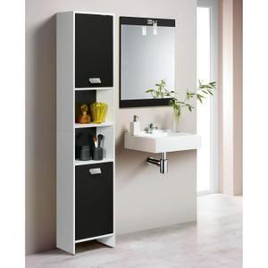 Colonne Armoire Sdb TOP Colonne de salle de bain 39cm Blanc et